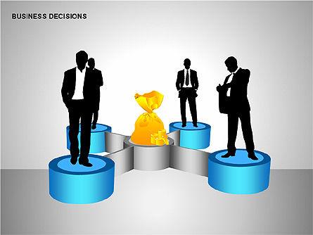 Business Decisions Diagrams, Slide 4, 00197, Business Models — PoweredTemplate.com