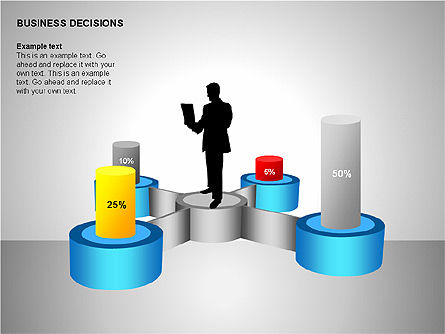 Business Decisions Diagrams, Slide 6, 00197, Business Models — PoweredTemplate.com