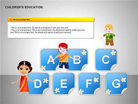 Children Education, Slide 10, 00199, Shapes — PoweredTemplate.com