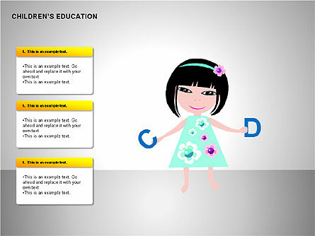Children Education, Slide 12, 00199, Shapes — PoweredTemplate.com