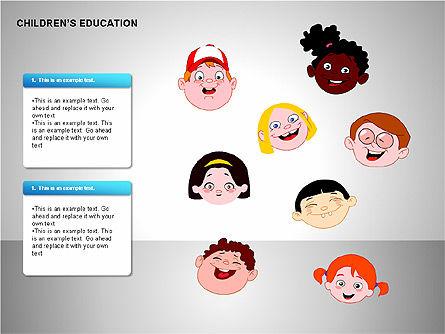 Children Education, Slide 15, 00199, Shapes — PoweredTemplate.com