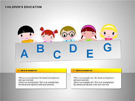Children Education, Slide 5, 00199, Shapes — PoweredTemplate.com