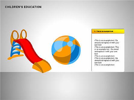 Children Education, Slide 6, 00199, Shapes — PoweredTemplate.com