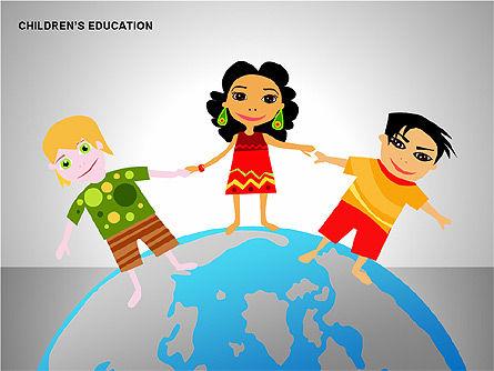 Children Education, Slide 7, 00199, Shapes — PoweredTemplate.com