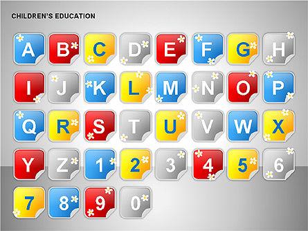 Children Education, Slide 9, 00199, Shapes — PoweredTemplate.com