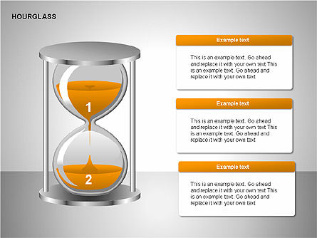 Hourglass Charts, Slide 10, 00201, Business Models — PoweredTemplate.com