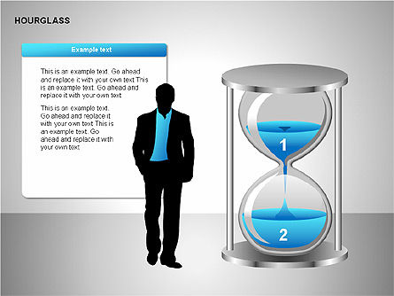 Hourglass Charts, Slide 11, 00201, Business Models — PoweredTemplate.com