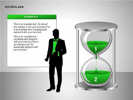 Hourglass Charts, Slide 13, 00201, Business Models — PoweredTemplate.com