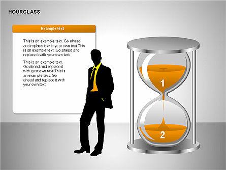 Hourglass Charts, Slide 14, 00201, Business Models — PoweredTemplate.com