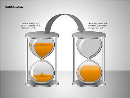 Hourglass Charts, Slide 6, 00201, Business Models — PoweredTemplate.com
