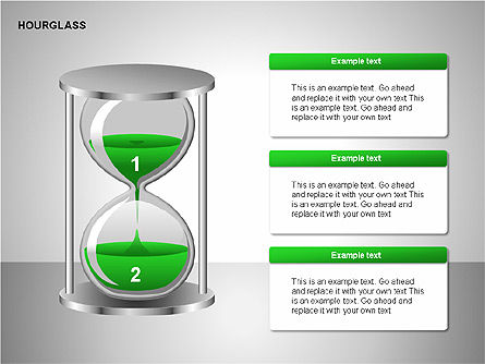Hourglass Charts, Slide 9, 00201, Business Models — PoweredTemplate.com