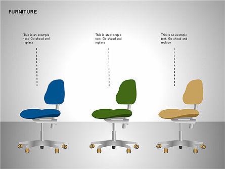 Furniture Shapes Collection, Slide 11, 00202, Shapes — PoweredTemplate.com