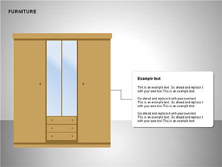 Furniture Shapes Collection, Slide 12, 00202, Shapes — PoweredTemplate.com