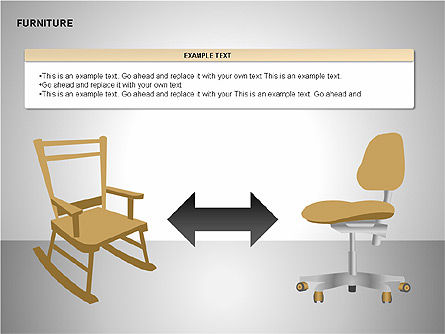 Furniture Shapes Collection, Slide 13, 00202, Shapes — PoweredTemplate.com