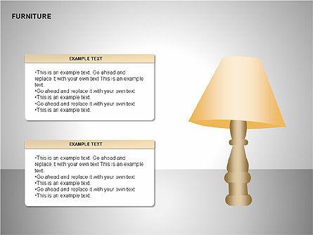 Furniture Shapes Collection, Slide 2, 00202, Shapes — PoweredTemplate.com