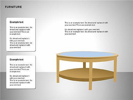 Furniture Shapes Collection, Slide 3, 00202, Shapes — PoweredTemplate.com