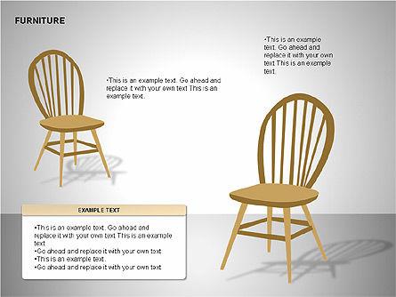 Furniture Shapes Collection, Slide 5, 00202, Shapes — PoweredTemplate.com