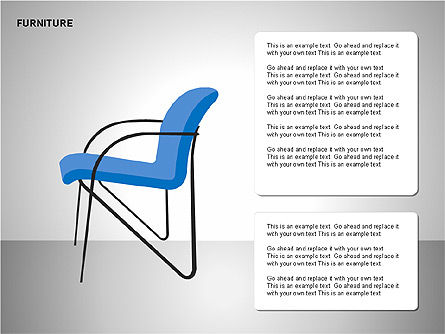 Furniture Shapes Collection, Slide 6, 00202, Shapes — PoweredTemplate.com