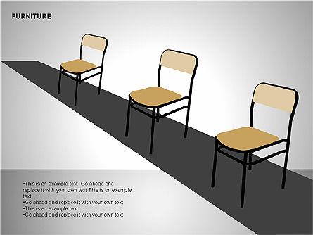 Furniture Shapes Collection, Slide 7, 00202, Shapes — PoweredTemplate.com