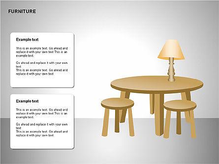 Furniture Shapes Collection, Slide 8, 00202, Shapes — PoweredTemplate.com