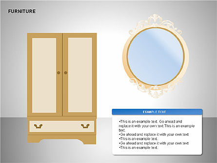 Furniture Shapes Collection, Slide 9, 00202, Shapes — PoweredTemplate.com