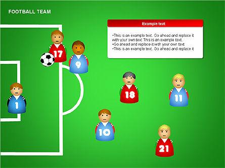 Football Team Shapes, Slide 10, 00203, Shapes — PoweredTemplate.com