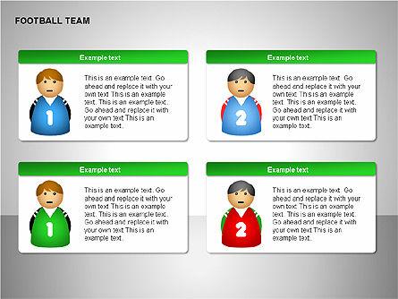 Football Team Shapes, Slide 11, 00203, Shapes — PoweredTemplate.com