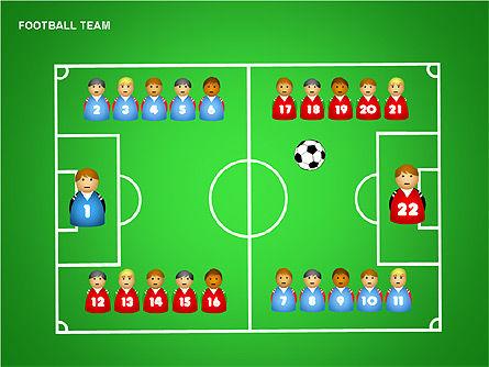 Football Team Shapes, Slide 12, 00203, Shapes — PoweredTemplate.com