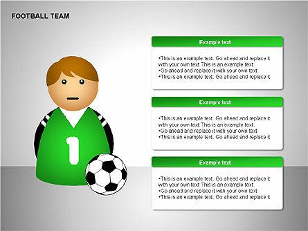 Football Team Shapes, Slide 13, 00203, Shapes — PoweredTemplate.com