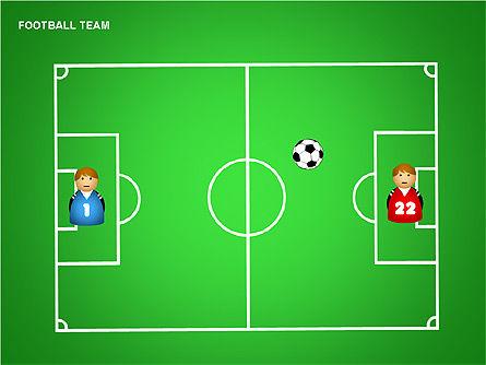 Football Team Shapes, Slide 14, 00203, Shapes — PoweredTemplate.com
