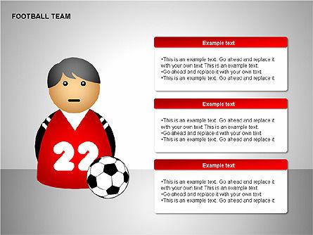 Football Team Shapes, Slide 15, 00203, Shapes — PoweredTemplate.com