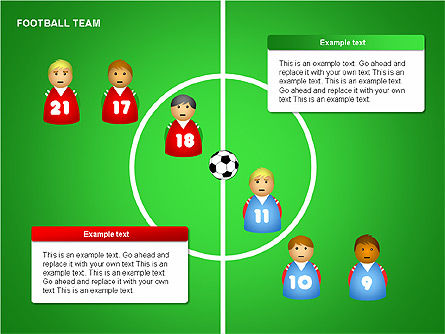 Football Team Shapes, Slide 2, 00203, Shapes — PoweredTemplate.com