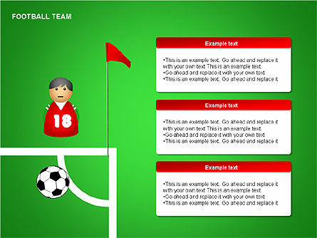 Football Team Shapes, Slide 5, 00203, Shapes — PoweredTemplate.com