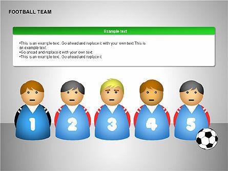 Football Team Shapes, Slide 6, 00203, Shapes — PoweredTemplate.com