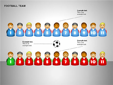 Football Team Shapes, Slide 7, 00203, Shapes — PoweredTemplate.com