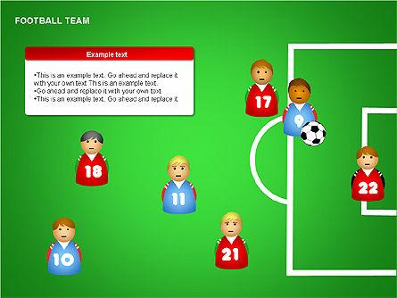 Football Team Shapes, Slide 8, 00203, Shapes — PoweredTemplate.com