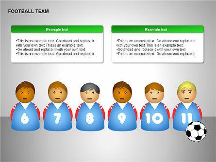 Football Team Shapes, Slide 9, 00203, Shapes — PoweredTemplate.com