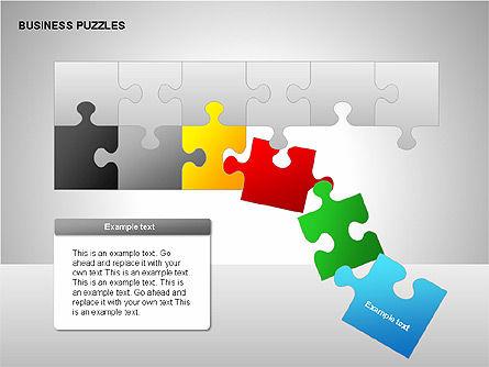 Puzzle Diagrams, Slide 10, 00205, Puzzle Diagrams — PoweredTemplate.com