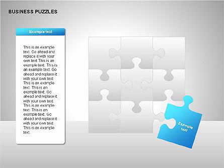 Puzzle Diagrams, Slide 11, 00205, Puzzle Diagrams — PoweredTemplate.com