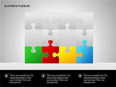 Puzzle Diagrams, Slide 13, 00205, Puzzle Diagrams — PoweredTemplate.com