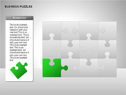 Puzzle Diagrams, Slide 14, 00205, Puzzle Diagrams — PoweredTemplate.com