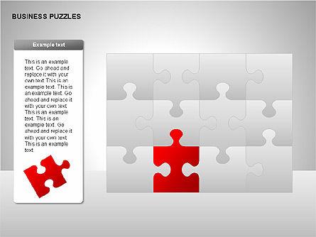 Puzzle Diagrams, Slide 15, 00205, Puzzle Diagrams — PoweredTemplate.com