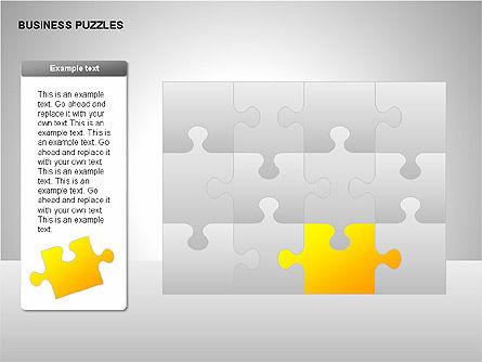 Puzzle Diagrams, Slide 16, 00205, Puzzle Diagrams — PoweredTemplate.com
