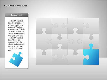Puzzle Diagrams, Slide 17, 00205, Puzzle Diagrams — PoweredTemplate.com