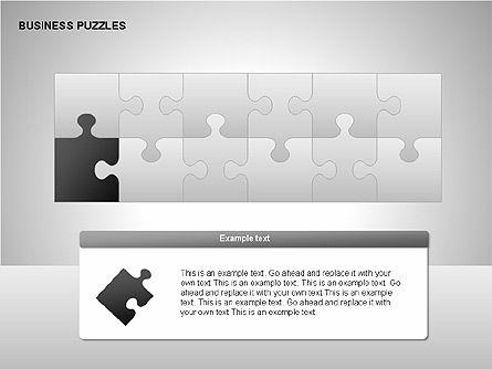 Puzzle Diagrams, Slide 2, 00205, Puzzle Diagrams — PoweredTemplate.com