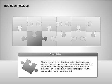 Puzzle Diagrams, Slide 3, 00205, Puzzle Diagrams — PoweredTemplate.com
