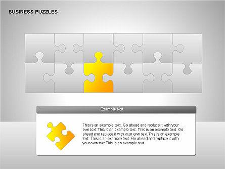 Puzzle Diagrams, Slide 4, 00205, Puzzle Diagrams — PoweredTemplate.com