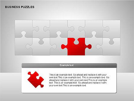 Puzzle Diagrams, Slide 5, 00205, Puzzle Diagrams — PoweredTemplate.com