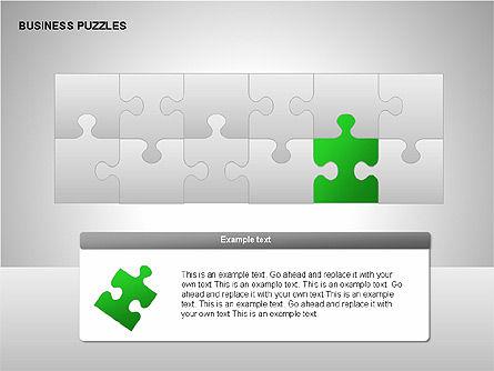 Puzzle Diagrams, Slide 6, 00205, Puzzle Diagrams — PoweredTemplate.com