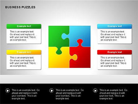 Puzzle Diagrams, Slide 8, 00205, Puzzle Diagrams — PoweredTemplate.com